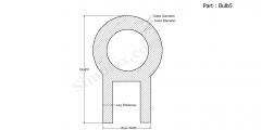 Part Bulb5 - Bulb Seal, Silicone Rubber Gaskets and Seals