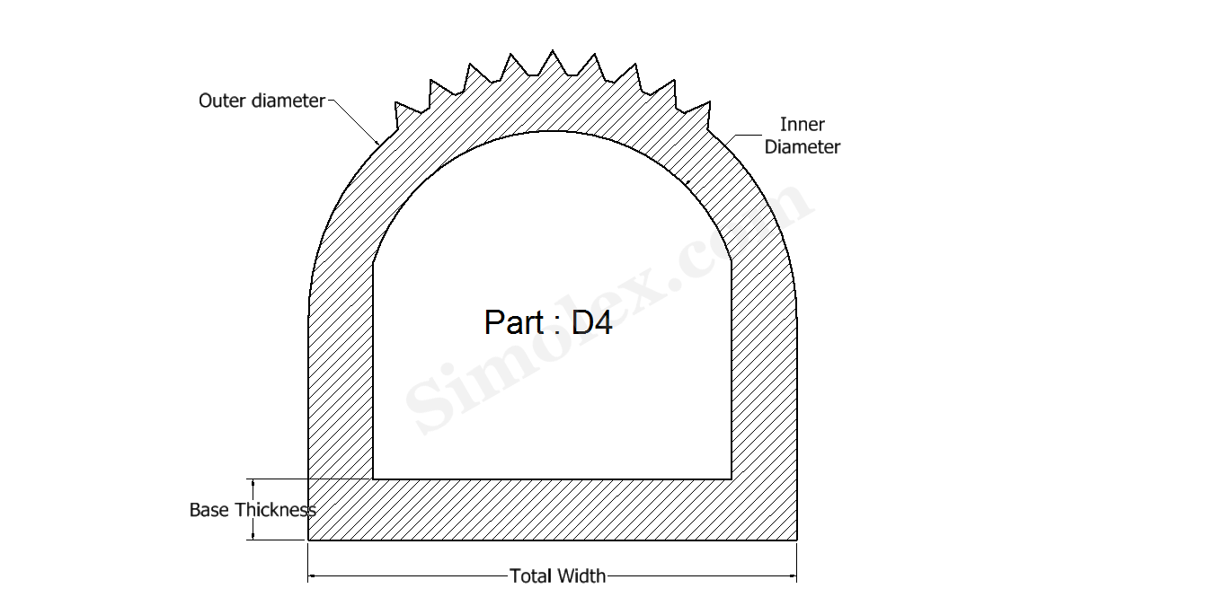 D Shaped Silicone Rubber Gaskets and Seal Manufacturer