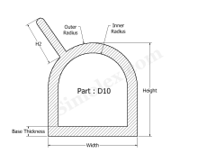 D-10 D shaped rubber Weatherstrip gaskets.png