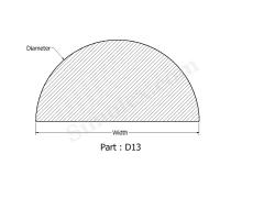 D-13 D shaped rubber seals & gaskets.png