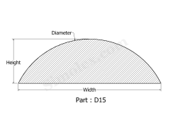 D-15 D Shaped Extruded Silicone Gasket.png