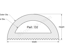 D-2 D Shaped Silicone rubber Gaskets.png