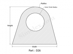 D-26 D shaped Silicone Gasket and Strips.png