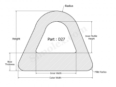 D-27 D shaped Silicone rubber Products - Seals and gaskets.png