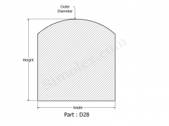 D-28 D shaped silicone gaskets & Rubber Seals.png