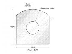 D-29 Silicone Gasket of D shape Design 2d.png