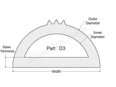 D-3 D Shaped Silicone Rubber Seal, Gasket.png