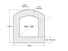 D-8 D Shaped Silicone Gasket 2D Design.png