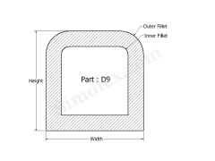 D-9 D shaped Gasket and Seal.png