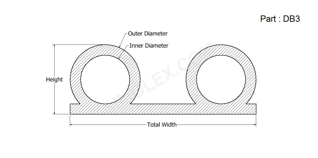 Double Bulb Silicone Rubber Seals on rubber extrusions seals
