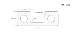 DB 2 - Double Bulb Gasket 2D design