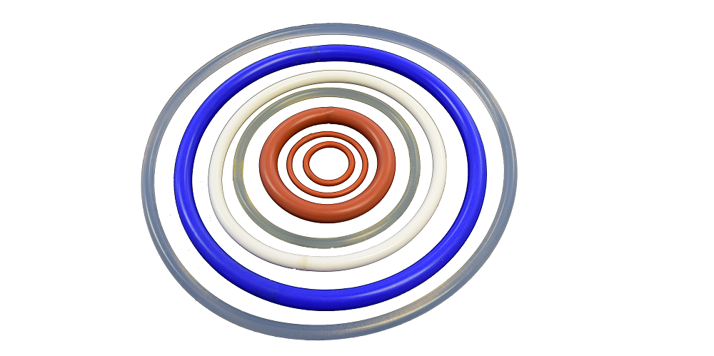 O rings of different colors and size
