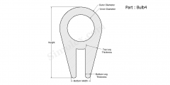 Part Bulb4 - Silicone rubber bulb seals and gaskets