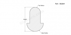 Part Bullet4 - Bullet shaped silicone rubber gaskets and extruded seals