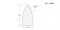 Part Bullet6 - Bullet shaped silicone rubber seals and gaskets