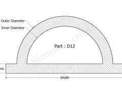 D-12 D Shaped Silicone Seals, Gaskets and weatherstrips.png