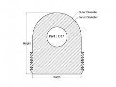 D-17 D Shaped Silicone Rubber Gasktes and Seals.png