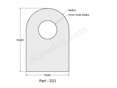 D-21 D Shaped Silicone rubber gaskets.png