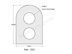 D-23 D shape silicone gaskets.png