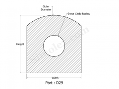D-29 Silicone Gasket of D shape Design 2d.png
