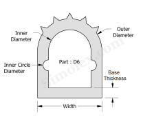 D-6 D shaped extruded silicone rubber gasket.png