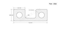 DB 2 - Double Bulb Gasket 2D design