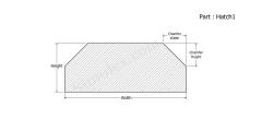 Hatch1 - Hatch shape silicone Gasket
