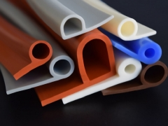 P shaped silicone rubber extrusion