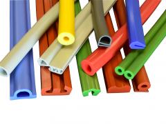 Silicone rubber extrusion, custom rubber extrusion